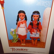 Princess Little Fawn Doll Dress Pattern 1995 Booklet TD869 Td Creations - $9.99