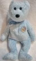 Vintage TY Beanie Baby 2003 DECADE 10 Yr Ann Bear Rare Lt Blue B37 - $10.88