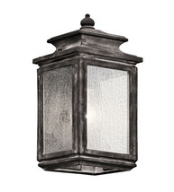 Kichler 49501WZC Wiscombe Park Outdoor Wall Sconces 6in Weathered Zinc - $199.99