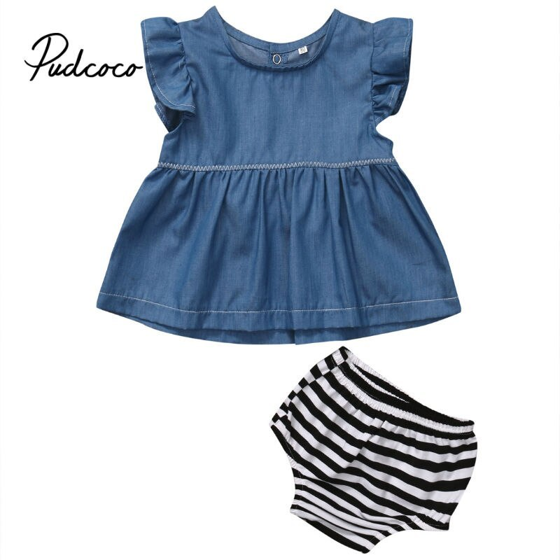 pudcoco 2019 Baby Girl Boys Clothes Newborn For Female Outfit Infant Clothing Se - $7.39