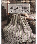 Lovely Mile-a-Minute Afghans 5 Crochet Patterns Leisure Arts  - $9.00