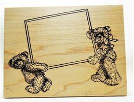 JudiKins Cute Large Teddy Bear Stamp, Rubber on Wood