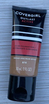 Covergirl Outlast Active Foundation SPF #870 Toasted Almond, 1 fl oz/30 ... - $8.99
