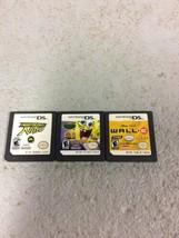 3 Nintendo DS games Sponge Bob, Need for speed Nitro, WALL E - $12.95