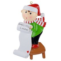 Christmas Scroll Ornament Personalized - $21.52