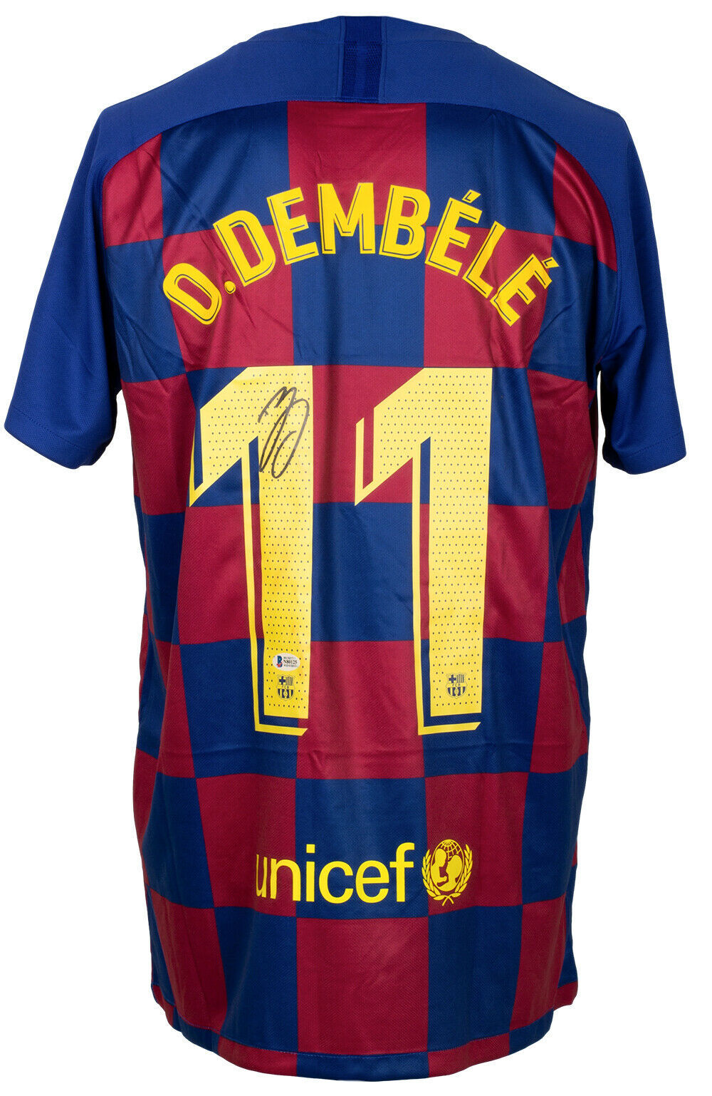 Primary image for Ousmane Dembele Signed Nike FC Barcelona Soccer Jersey BAS ITP