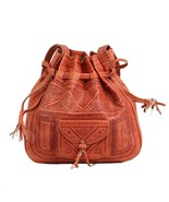Vintage Moroccan Leather Bag, Tote Shoulder Bag, Crossbody Fashion Eveni... - $54.95