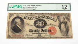 1880 $20 United States Note Fr #147 Graded by PMG as Fine 12 - $395.99