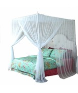 4 Corner Bed Canopy Curtain Net Bed Frame Draperies Bedroom Decoration (... - $64.42+