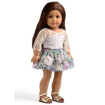 Dolls For Girls American Girl Clothes Lace Top Floral Skirt Set 18 Inche... - $27.44