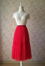 ROYAL BLUE High Waist Tulle Skirt Bridal Bridesmaid Skirt Layer Full Tulle Skirt image 13