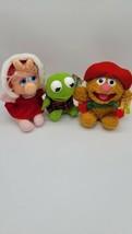 Jim Henson's MUPPET BABIES by McDonalds Plush Kermit Miss Piggy Fozzie Bear 1988 - $15.99