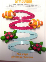 Gymboree Floral Reef line Orange Fish Green Turtle Barrette/Clip NWOT Snap Girl - $19.95