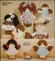 Workshoppe Originals Full Size Combined Wood Fabric Painted Dolls Sew Pa... - $12.99