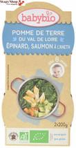 Babybio Bols Pomme de Terre du Val Loire Epinard Saumon à l'Aneth 2x200 ... - $31.79