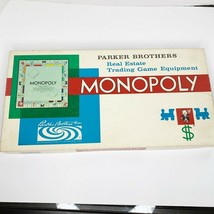 Vintage Monopoly Real Estate Trading Game Parker Brothers Board Game 1961 - $38.52