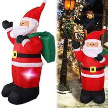 4 FT Airblown Inflatable Christmas Santa Claus w/LED Light Xmas Lawn Yar... - $42.40