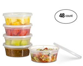 Basix Deli Food Storage Container Lids 8 Ounce 48 Pack - $18.97