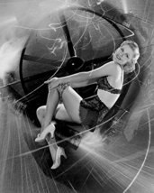 Ginger Rogers Scantily Clad Smiling On Frenzied Set 16X20 Canvas Giclee - $69.99