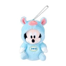 Mickey Mouse Plush Doll Badge Pig 2019 New Year Tokyo Disney Limited Japan - $68.24