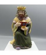 Thomas Kinkade Hawthorne Village King Melchior Nativity Wiseman 2002 Por... - $16.73