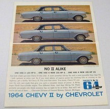 1964 Print Ad Chevy Nova 6-Passenger 4-Dr Sedan Chevrolet 120, 155, 195 HP - $13.85