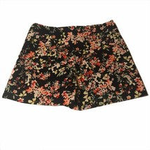Zara Womens Medium Shorts High Waist Black Floral Cotton Elastane - $19.25