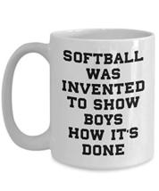 PixiDoodle Women's Softball Player Fan Girls Are Better Coffee Mug (15 oz, White - $20.78