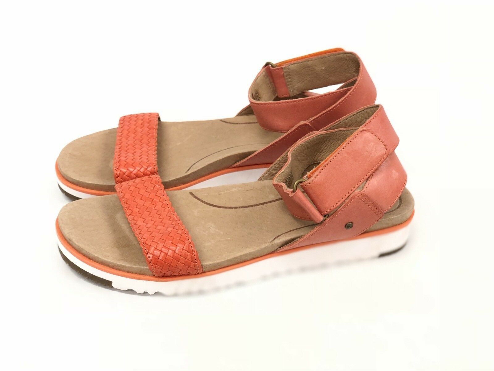 Ugg Australia Laddie Women's Ankle Strap Fire Opal Orange Sandal 1015669 Shoes image 8