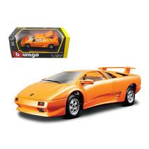 Lamborghini Diablo Orange 1/24 Diecast Car Model by Bburago 22086or - $32.30