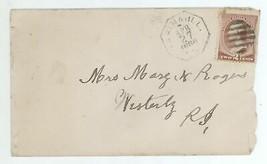 1886 2c Washington Scott 210 Cover Farina IL - Westerly RI Oct Postmark ... - $6.99