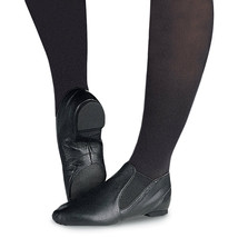 Capezio CG05C Child's Size 10.5 Wide (Fits 8.5) Black Split Sole Jazz Boot - $19.79