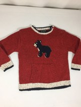 The Children Place Kids Sweater Red Bear Logo Size 24months Long Sleeve  Bin4#5 - $11.30
