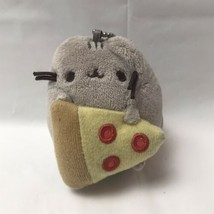 Gund Pusheen Cat With Pizza Plush Keychain - $11.87