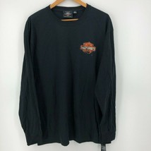 Harley Davidson Long Sleeve T-Shirt Men's XL Black Double Sided Classic ... - £10.79 GBP
