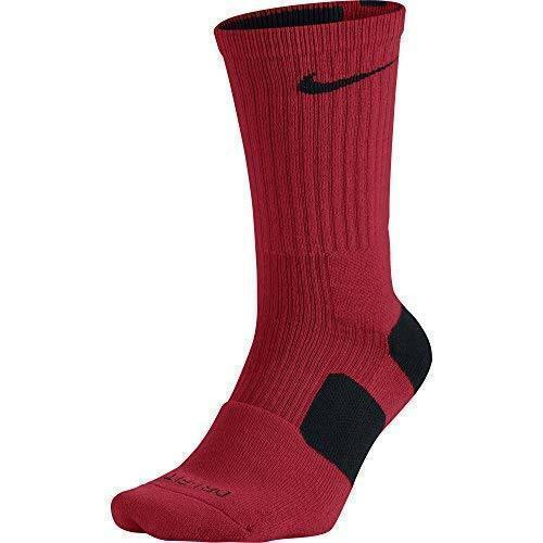 Nike Dri FIT Elite Basketball Crew Socks University Red Black