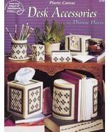 Desk Accessories Tissue Pen Holder, Bookends Plastic Canvas PATTERN/INST... - $1.77