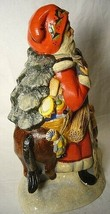 Vaillancourt Folk Art Father Christmas on a donkey  signed. by Judi! Last one! image 2