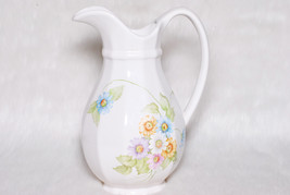 Vintage Collectible Pfaltzgraff Heritage Floral Large Stoneware Pitcher - $39.00