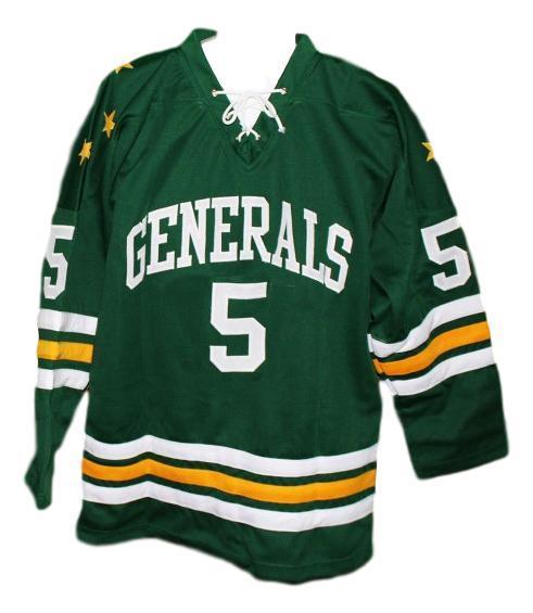 Greensboro generals retro hockey jersey 1960 green   1