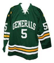Custom Name # Greensboro Generals Retro Hockey Jersey 1960 New Green Any Size image 1