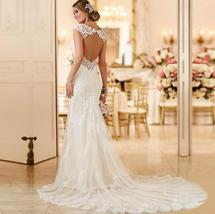 Sexy Sweetheart Open Back Lace Mermaid Trumpet Wedding Dress image 2