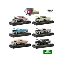 Auto Thentics 6 Piece Set Release 39 IN DISPLAY CASES 1/64 Diecast Model... - $54.06