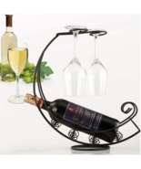 Metal Wine bottle and glass holder  - $27.00
