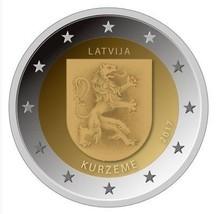 Latvia 2017 Cureland Kurzeme 2 EURO Coin, Latvian Regions series, UNC - $4.50