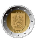 Latvia 2017 Cureland Kurzeme 2 EURO Coin, Latvian Regions series, UNC - $5.90 CAD