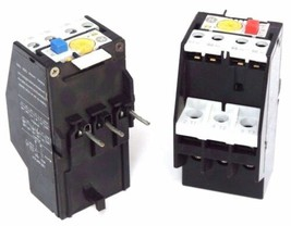 LOT OF 2 GENERAL ELECTRIC OVERLOAD RELAYS RTM1L 4.0-6.3 AMP, RTA1M 5.5-7.50 AMP