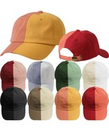 EPTM Split Baseball Cap Two Tone Dad Hat Cotton Hat Fashion Casual Headwear - $11.99