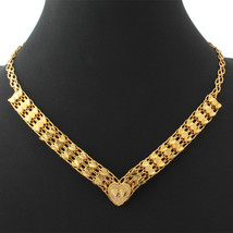 Necklaces, Wedding 18K Real Gold Plated 46CM Heart Vintage N230 - $23.99