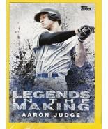 AARON JUDGE 2018 TOPPS LEGENDS IN THE MAKING #LTM-AJ NEW YORK YANKEES  - $3.98